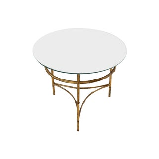 Gold Faux Bamboo-Style Accent Table