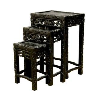 Chinese Ebonized Nesting Tables - Set of 3