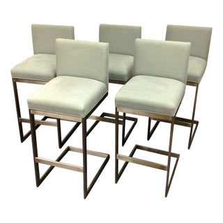 "Brueton ""H2-2"" Bar Stools - Set of 5"