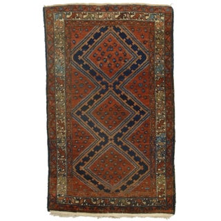 """Hand Knotted Persian Hamedan Rug - 3'11"""" X 6'6"""""""
