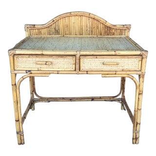Vintage Bamboo Rattan Desk