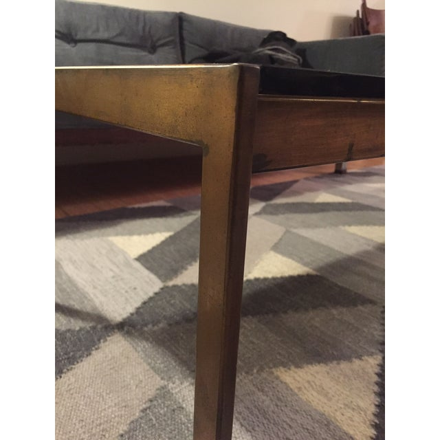 Brass and Smoked Glass Coffee Table - Image 3 of 4