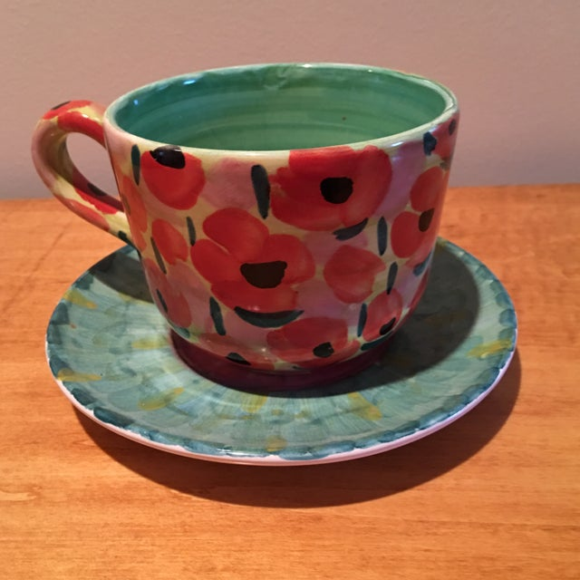 Impressionist Waterlily Large Teacup - Image 2 of 6