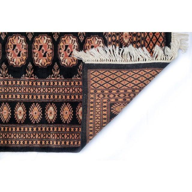 Vintage Black Bokhara Rug 'Hadier' - 4'2" X 6'2" - Image 3 of 3