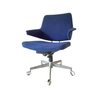 Vintage Duba of Denmark Swivel Chair in Blue