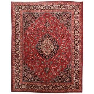 Rugsindallas Hand-Knotted Persian Mashad Rug - 9′10″ × 12′10″