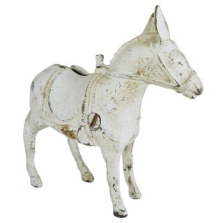Silver Donkey Decorative Figurine