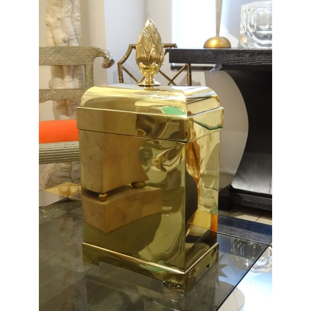 Lidded Brass Box by Maitland Smith - Image 2 of 5