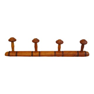 Antique French Carved Coat Rack