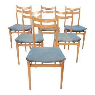 Danish Blonde Modern Chairs - Set of 6