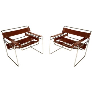 Marcel Breuer Wassily Lounge Chairs - A Pair