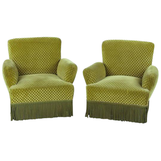 Green Chairs vintage & used accent chairs | chairish