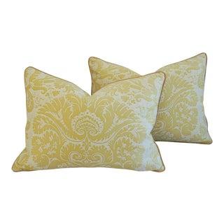 Custom Tailored Mariano Fortuny Italian Demedici Pillows - a Pair