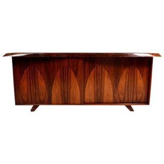 Mid-Century Custom Rosewood Credenza In the Style of George Nakashima