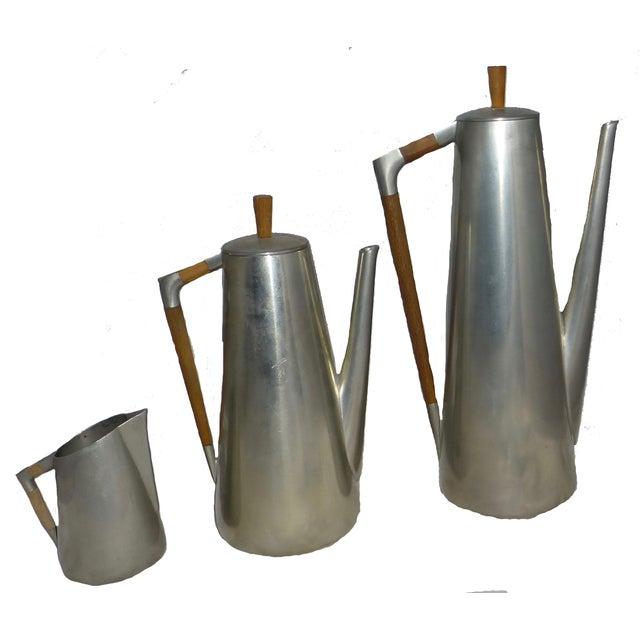Mid-Century Coffee Pot, Tea Pot & Creamer - S/3 - Image 1 of 9