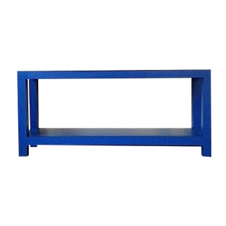 Funky Retro Blue Console Table