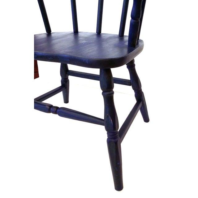 Vintage Marine Blue Children S Chair Chairish