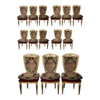 Louis XV Style Dining Chairs - Set of 14