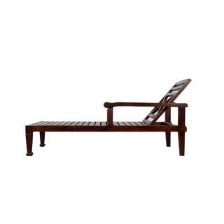 Solid Teak Wood Beach Chaise Lounge Chair