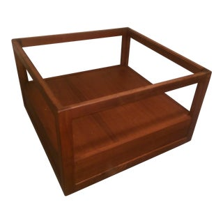 Milo Baughman Walnut End Table