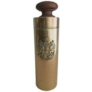 Italian Brass Crest Canister