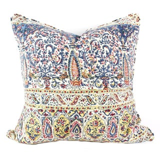 Vintage Indian Hand Block Pillow