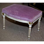 Image of French Louis XVI Style Painted Foot Stools - Pair