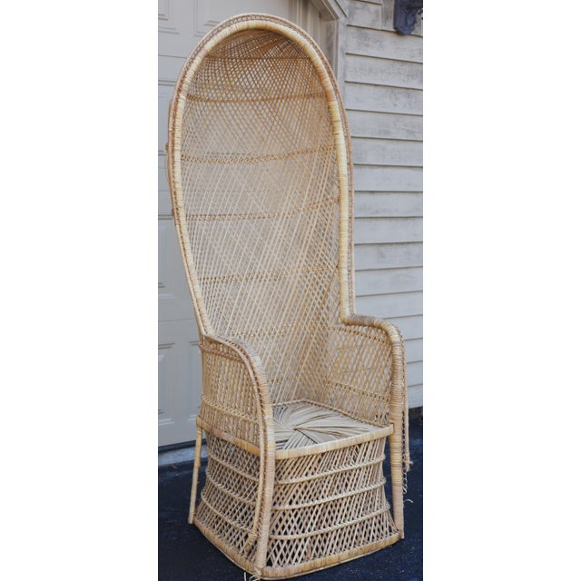 Image of Vintage Rattan Porter Chair