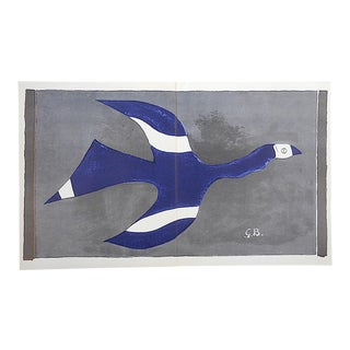 Vintage Mid Century Lithograph by Georges Braque