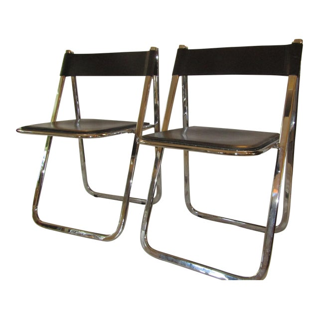 Aarben Italian Folding Chairs - A Pair - Image 1 of 7
