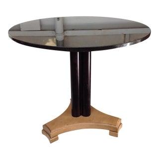 Black Granite Top Accent Table