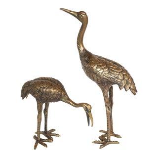 Mid-Century Brass Birds - A Pair