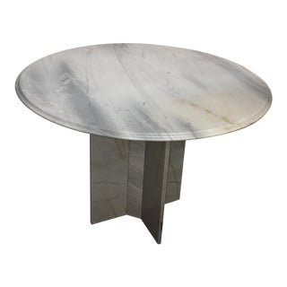 Modern Gray Marble Dining Table
