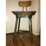 Image of Antique Industrial Iron Drafting Stool