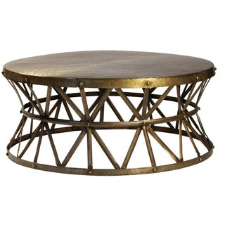 Brass Hammered Coffee Table