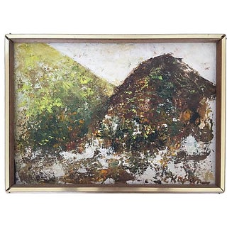 Mid-Century Original Abstract Oil Painting