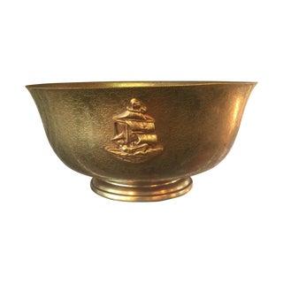 Tiffany Bronze Gold Guilt Bowl