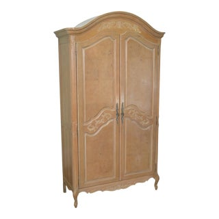 French Louis XV Style White Wash Armoire by Stanley