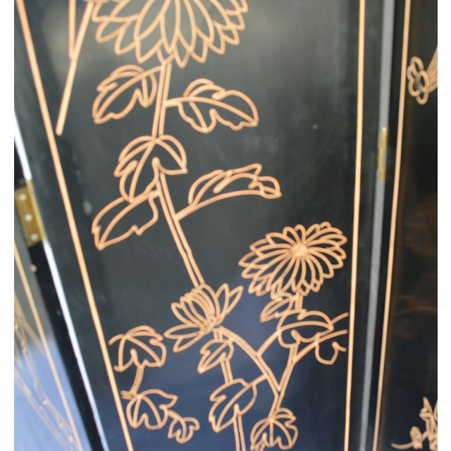 1960s Japanese 4 Panel Screen - Image 6 of 8