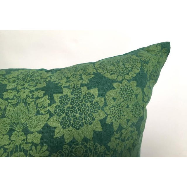 Folly Cove Designers Hand Block Printed Pillow with US State Flowers - Image 5 of 8