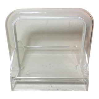 Guzzini Lucite Napkin Holder