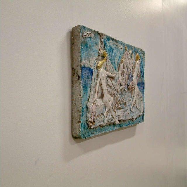 Ugo Lucerni Majolica Wall Relief Sculpture - Image 5 of 6