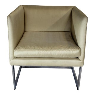 Milo Baughman Attributed Cube Club or Dining Chair