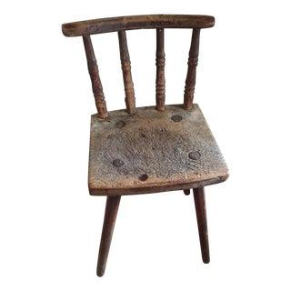 Primitive Handmade Pegged Chair