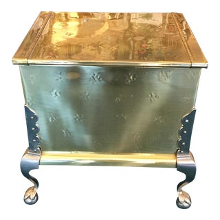 Brass Lift Top Chest Side Table