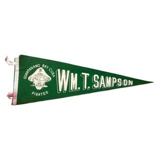 Vintage WM Sampson Guantanamo Bay Felt Flag