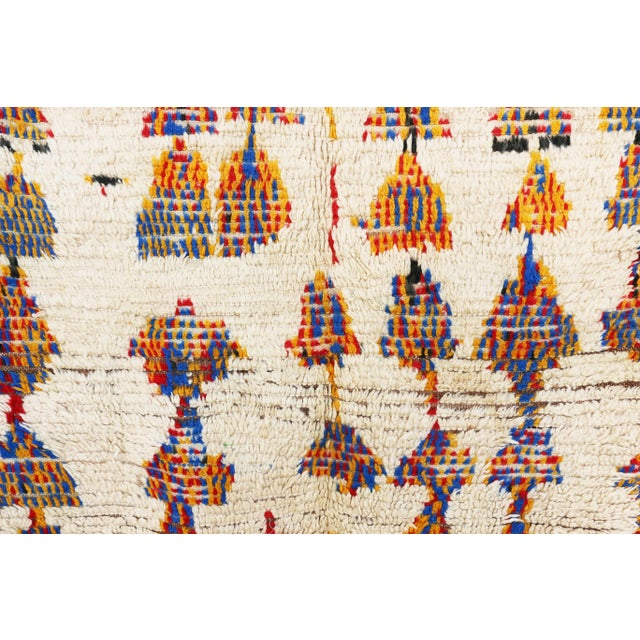 "Vintage Azilal Moroccan Berber Rug - 4'2"" x 4'9"" - Image 2 of 2"