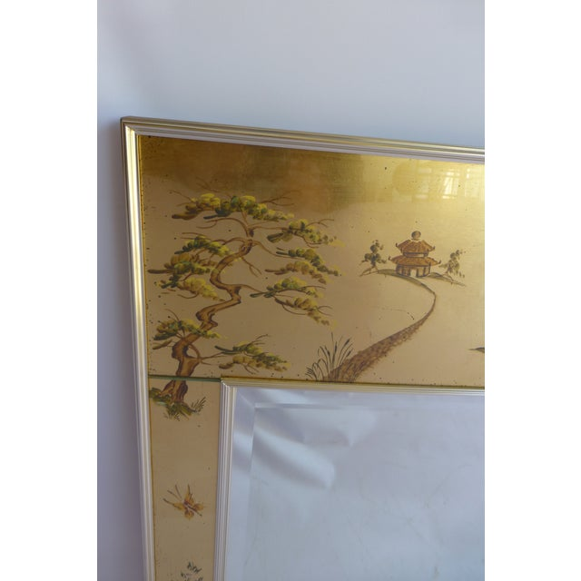 Image of Vintage LaBarge Eglomise Chinoiserie Mirror