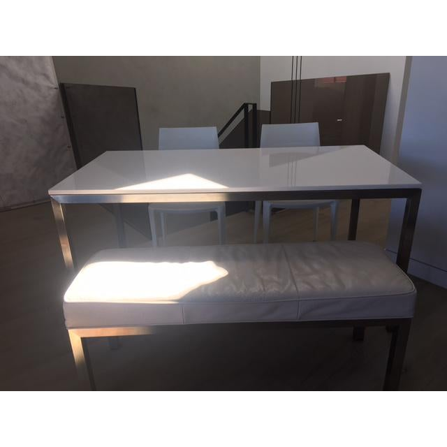 Image of Room & Board Portico Table With Bench & Chairs - Set of 4