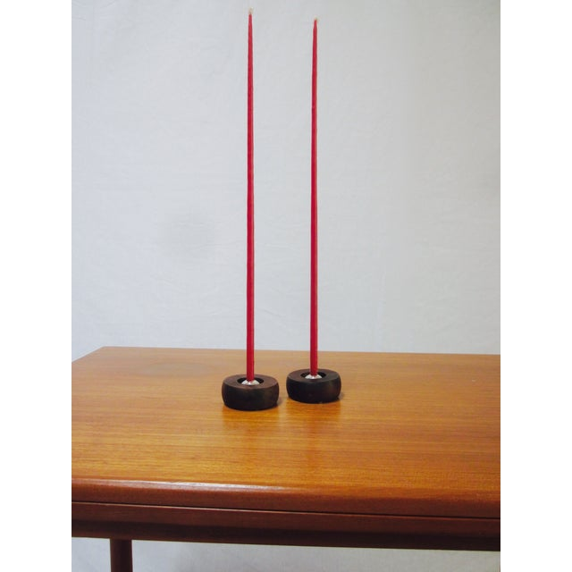 Danish Modern Nissen Candle Holders - A Pair - Image 9 of 9